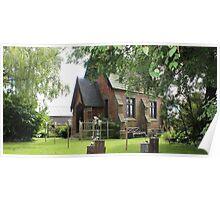 Brickenden Church - garden setting Poster