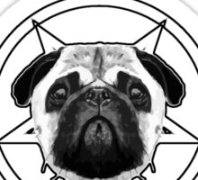 MY PUG LISTENS TO METAL Sticker