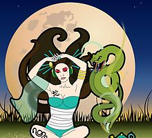 Year of the Snake - Sencha Snake by thickblackoutline