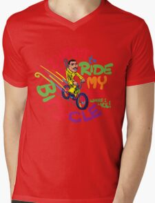 Freddie's Bicycle Mens V-Neck T-Shirt