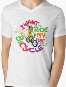 Freddie's Bicycle Mens V-Neck T-Shirt