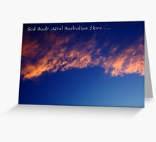 God's Skies Greeting Card