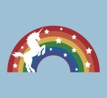 Retro Unicorn and Rainbow Kids Tee