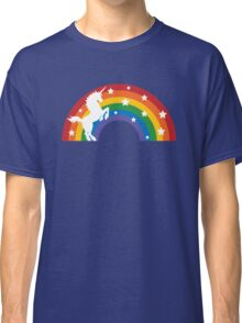 Retro Unicorn and Rainbow Classic T-Shirt