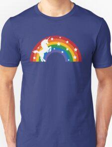 Retro Unicorn and Rainbow Unisex T-Shirt