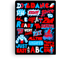 Justice DANCE Lyrics by So Me Canvas Print