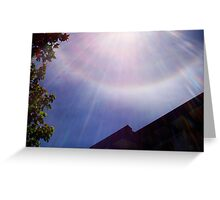 Rainbow Sun Burst Greeting Card
