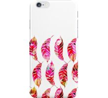 Girly Colorful Watercolor Hand Drawn Feathers iPhone Case/Skin
