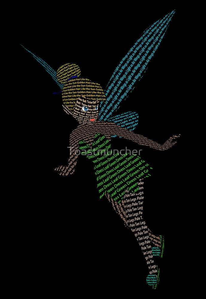 Typography Tinker Bell by Toastmuncher