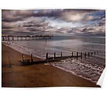 Teignmouth Beach and Pier Poster