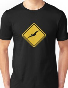 Beware of Pterodactyls Road Sign  Unisex T-Shirt