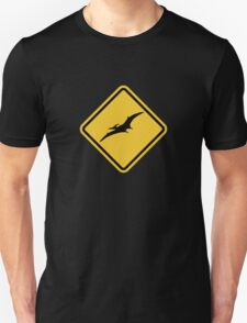 Beware of Pterodactyls Road Sign  T-Shirt