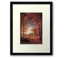 Bierstadt Albert Autumn in America Oneida County New York.   Framed Print