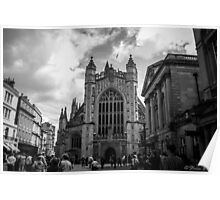 The busy streets of Bath Poster