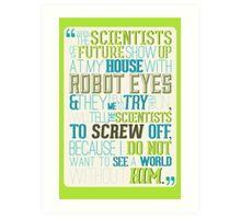 tfios - I do not want to see a world without him. Art Print