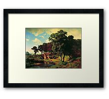 Bierstadt Albert A Rusty Mill.  American great artist fine landscape oil painting. Framed Print
