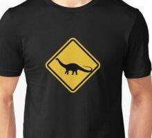 Beware of Apatosaurus Road Sign T-Shirt