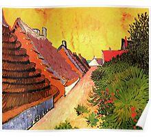 Street in Saintes Marie, Vincent van Gogh.   Poster