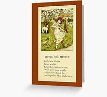 Greetings-Kate Greenaway-Miss Muffet Greeting Card