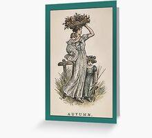Greetings-Kate Greenaway-Autumn Greeting Card