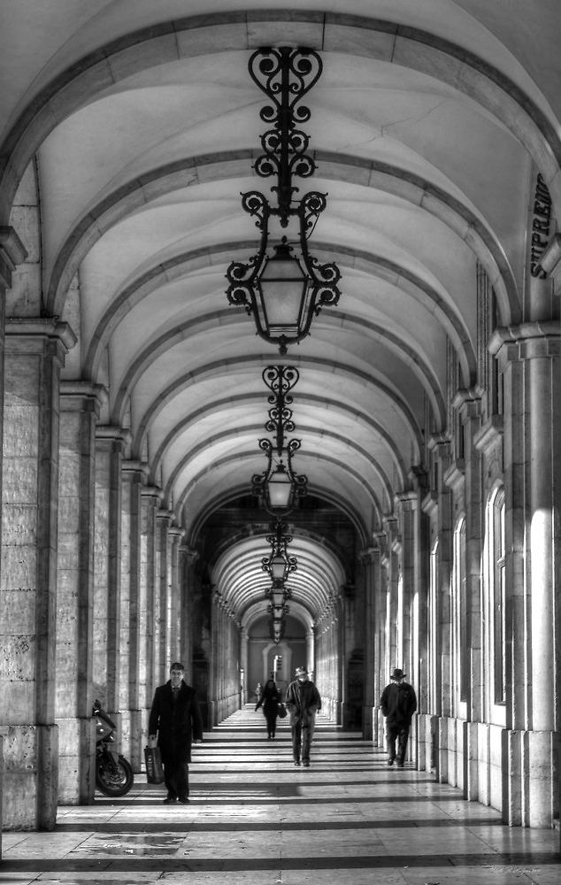 Arcade - Praça do Comérco: Lisbon, Portugal by Ursula Rodgers