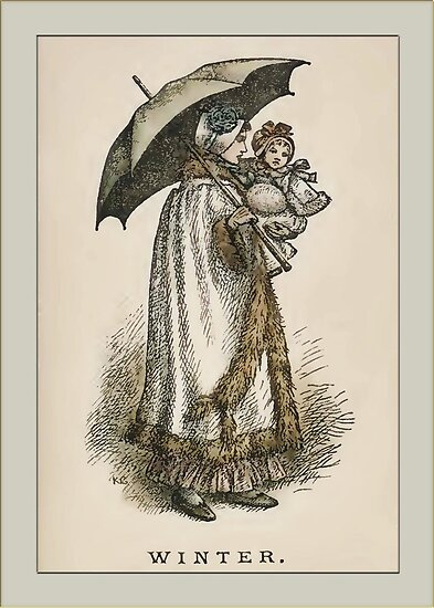 Greetings-Kate Greenaway-Winter by Yesteryears