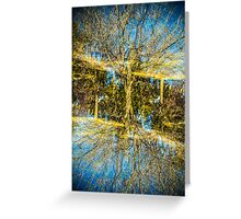 natures double exposure Greeting Card