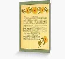 Greetings-Kate Greenaway-The Lesson Greeting Card