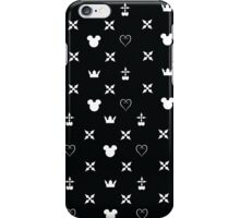 Kingdom Hearts Pattern (black) iPhone Case/Skin