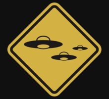 Beware of UFO Road Sign by eZonkey