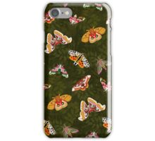 Beautiful Moths on Green iPhone Case/Skin