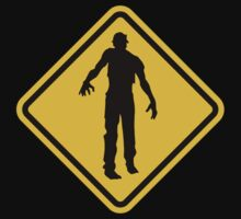 Beware of Zombies Road Sign by eZonkey