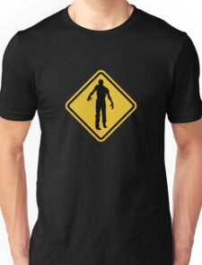Beware of Zombies Road Sign Unisex T-Shirt