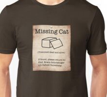 Schrödinger's Missing Cat Unisex T-Shirt