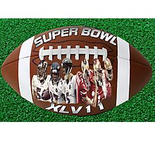 ☝ ☞ SUPERBOWL XLV11 (VERSION ONE ) QUES IS WHO WILL WIN??☝ ☞ Photographic Print