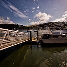 Boat at Jetty in Dartmouth by Jay Lethbridge