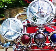 Moped at Cramond Foreshore, Edinburgh, Scotland by Katherine Case