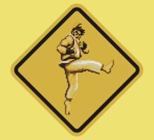Beware of Ryu Hurricane Kick Road Sign - Second Version Baby Tee