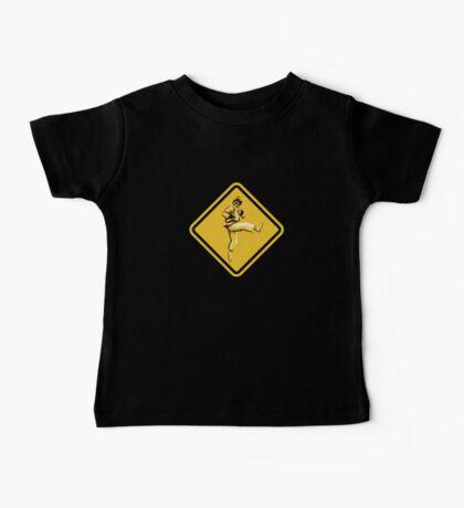 Beware of Ryu Hurricane Kick Road Sign - Second Version Baby Tee