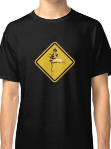 Beware of Ryu Hurricane Kick Road Sign - Second Version Classic T-Shirt