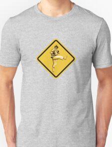 Beware of Ryu Hurricane Kick Road Sign - Second Version T-Shirt