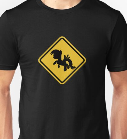 Beware of My Little Pony Road Sign Unisex T-Shirt