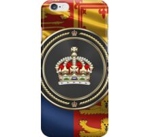 Imperial Tudor Crown over Royal Standard of the United Kingdom iPhone Case/Skin