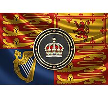 Imperial Tudor Crown over Royal Standard of the United Kingdom Photographic Print