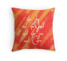 The Sky and the Sand and the Sea and Corr Throw Pillow