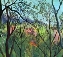 Henri Rousseau - The Walk in the Forest Sticker