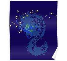 Galactic Kitten Poster