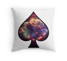 Cosmic Spade Throw Pillow