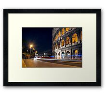 Your way in the night Framed Print