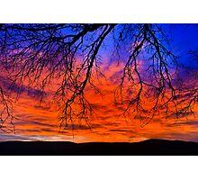 sky fire Photographic Print